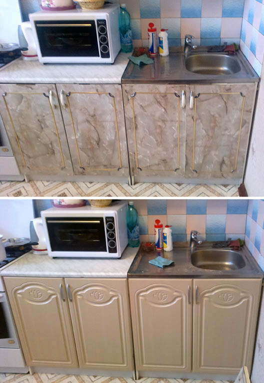 Реставрация фасадов кухни своими руками 815